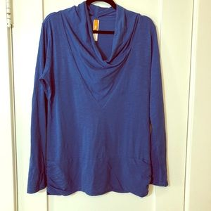 Lucy Athletic cowl neck long sleeve workout top